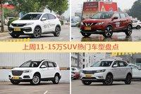 11-15万SUV车型上周热度排行揭晓,XR-V领跑