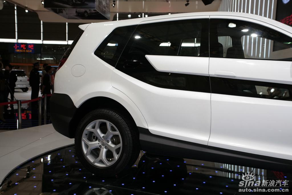 图片说明:2009上海车展于4月20日至28日在上海新国际博览中心隆重举行,有来自25个国家和地区的约1500家企业参展 ,已经成为亚洲甚至世界上非常具有影响力的车展之一。图为上海车展长城展台H7概念车。