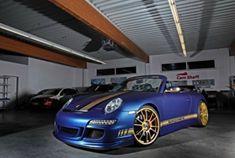 藍金配色 改裝保時捷911 Cabriolet