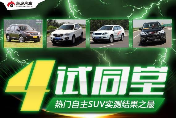 4试同堂 实测热门自主SUV之最