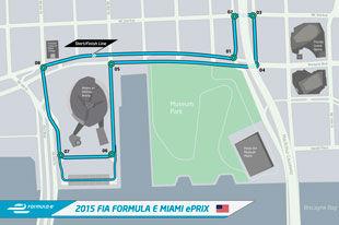 FE公布迈阿密大奖赛赛道 围绕美联航中心举行