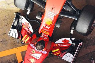 F1季前试车首日 法拉利维特尔最快