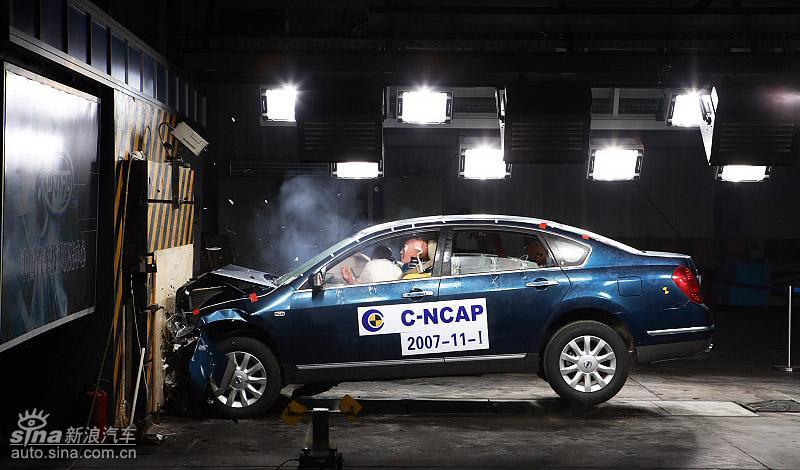 日产天籁 新车碰撞测试结果出炉 天籁获安全五星高清图片