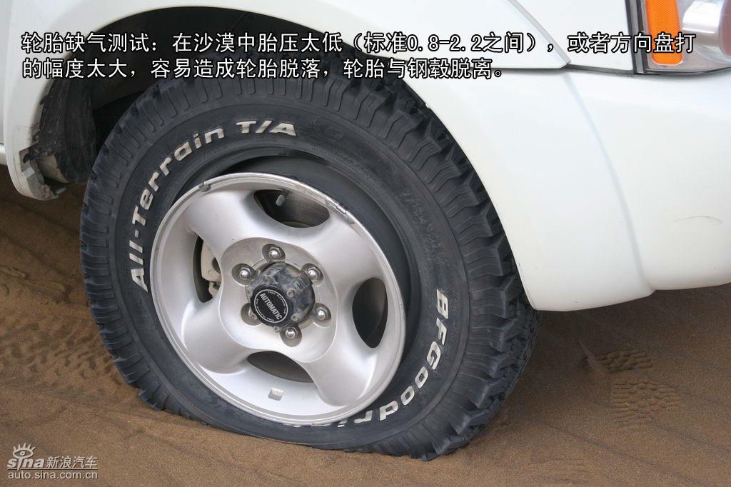 车辆在沙漠更换轮胎方法