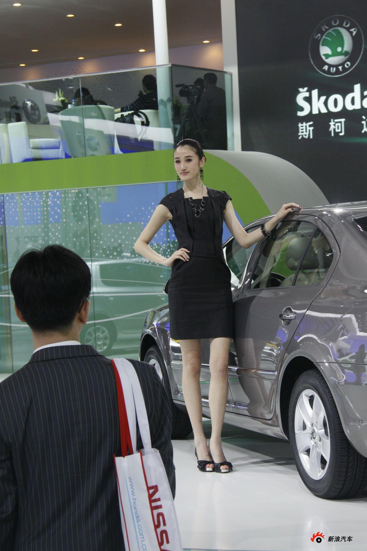 斯柯达展台6号模特
