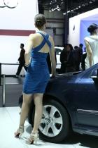 斯柯达展台2号模特