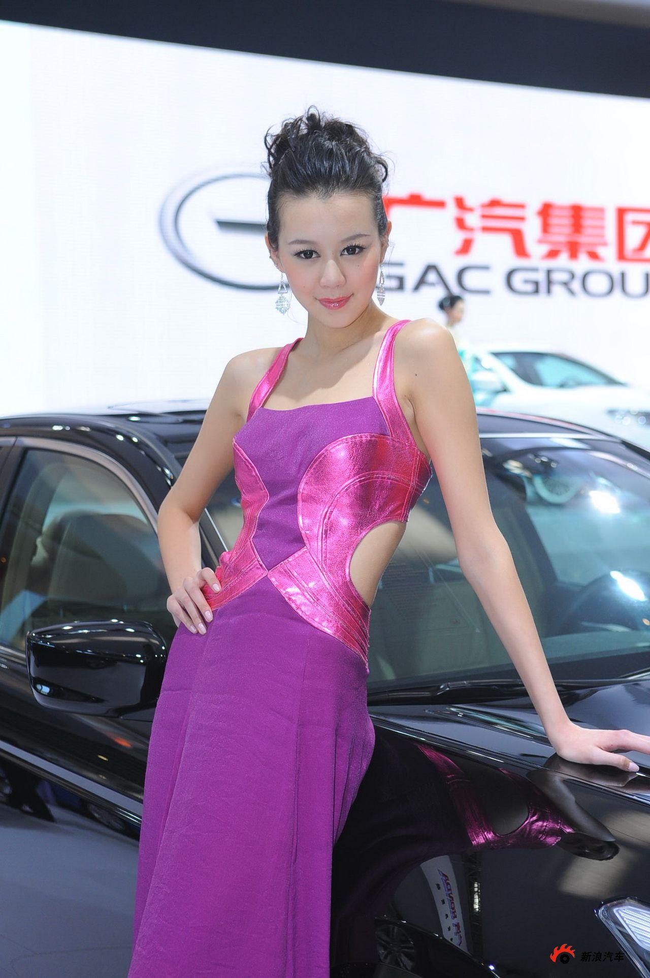 广汽展台3号模特
