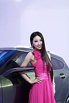海马汽车展台6号模特