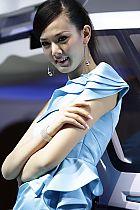 长安汽车展台8号模特