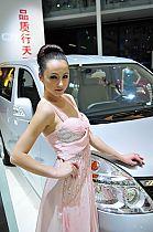 广汽展台6号模特
