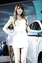 丰田展台6号模特