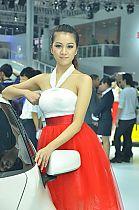 本田展台4号模特