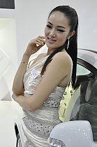江淮展台5号模特