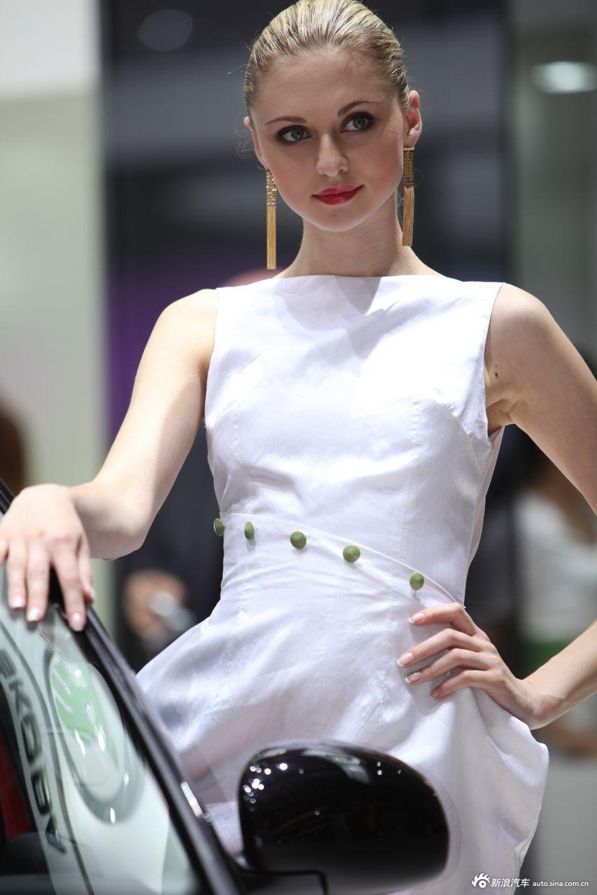 斯柯达展台10号模特