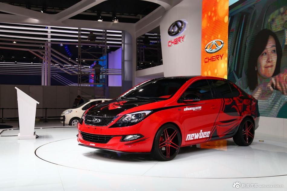 2014年第12届广州国际车展 图为:奇瑞艾瑞泽3冠军版