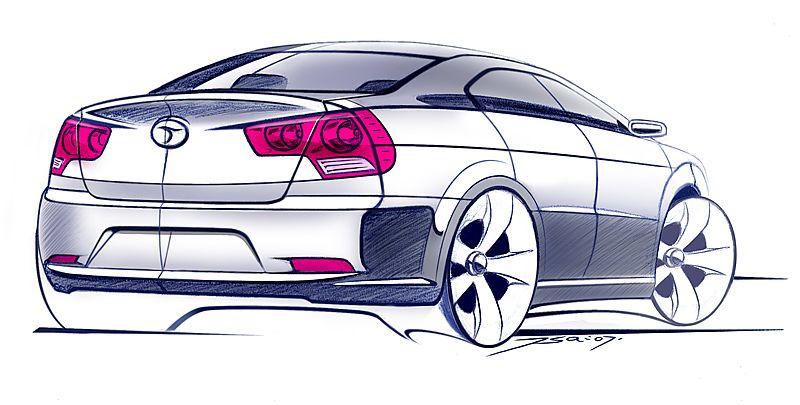 工业设计汽车手绘图