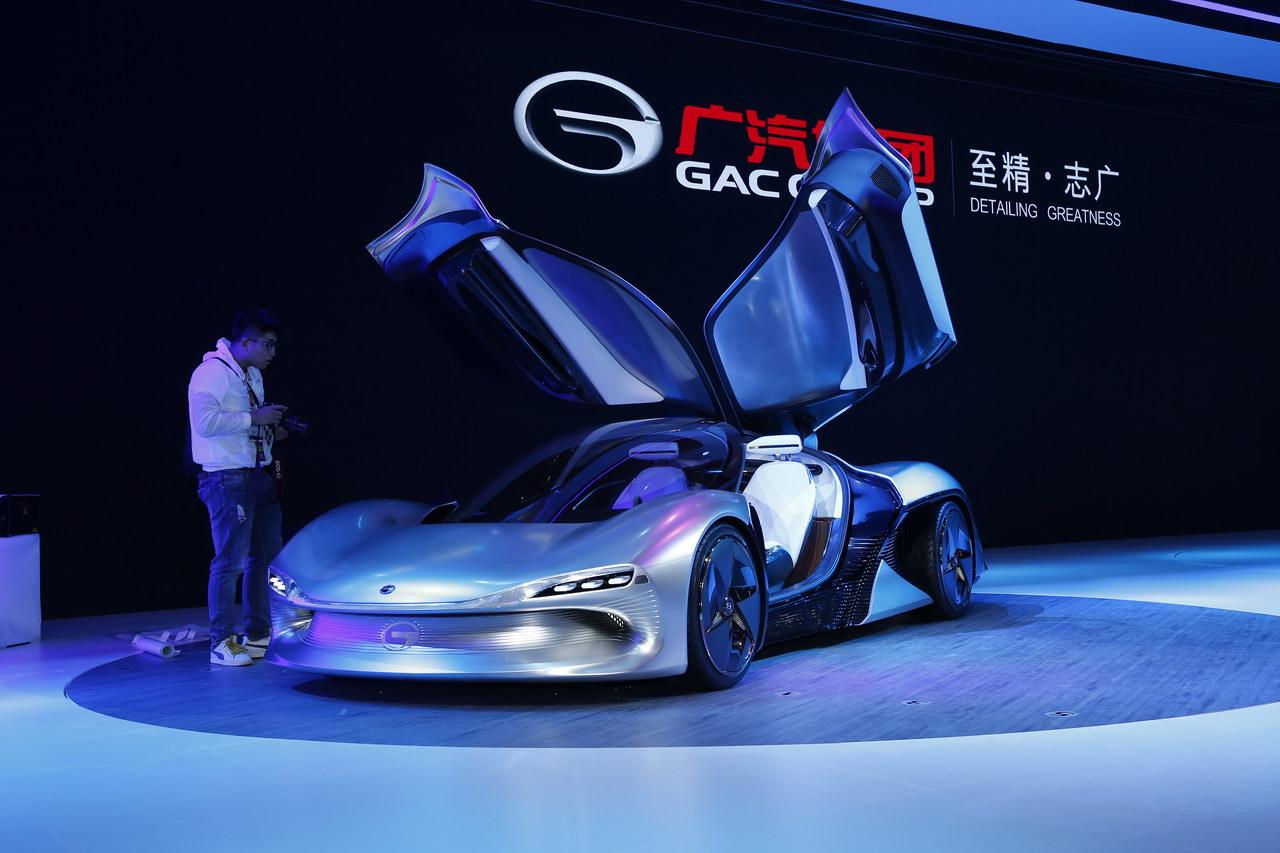 广州车展新车实拍:广汽电动EnLight概念车