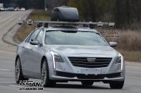凯迪拉克CT6自动驾驶车谍照