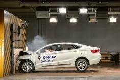 吉利博瑞C-NCAP安全碰撞测试现场
