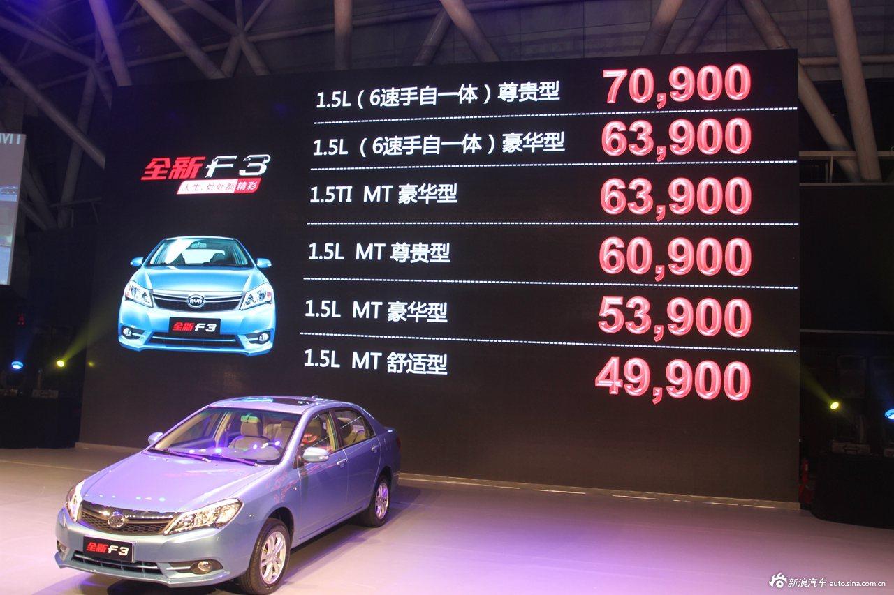 全新比亚迪F3上市现场 新车价格发布