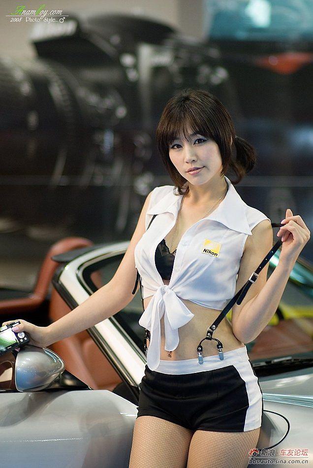 韩国车模美女写真集 汽车图库