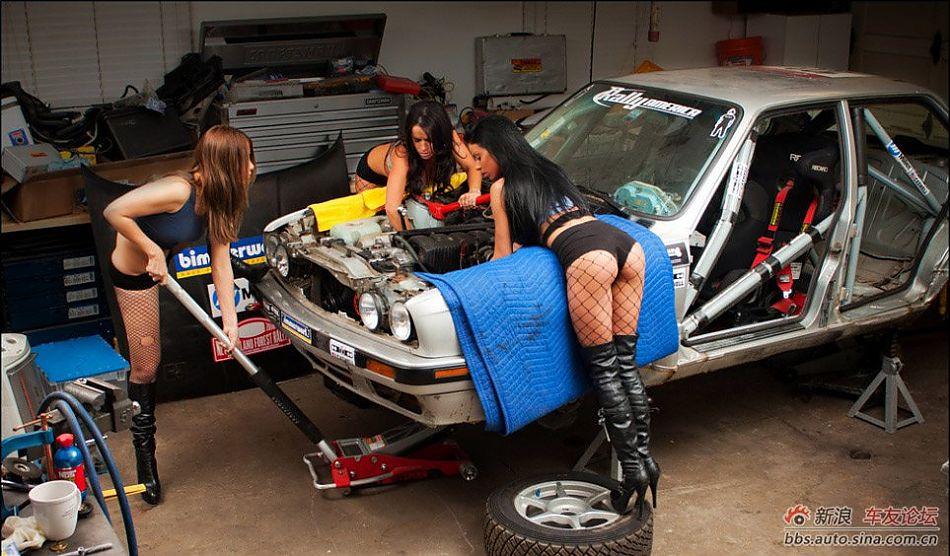 美女修车修车美女美女修车壁纸修车难吗?