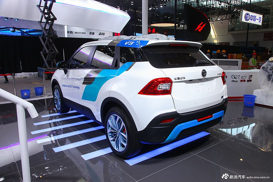 2016北京车展探馆 抢先实拍中华V3 EV