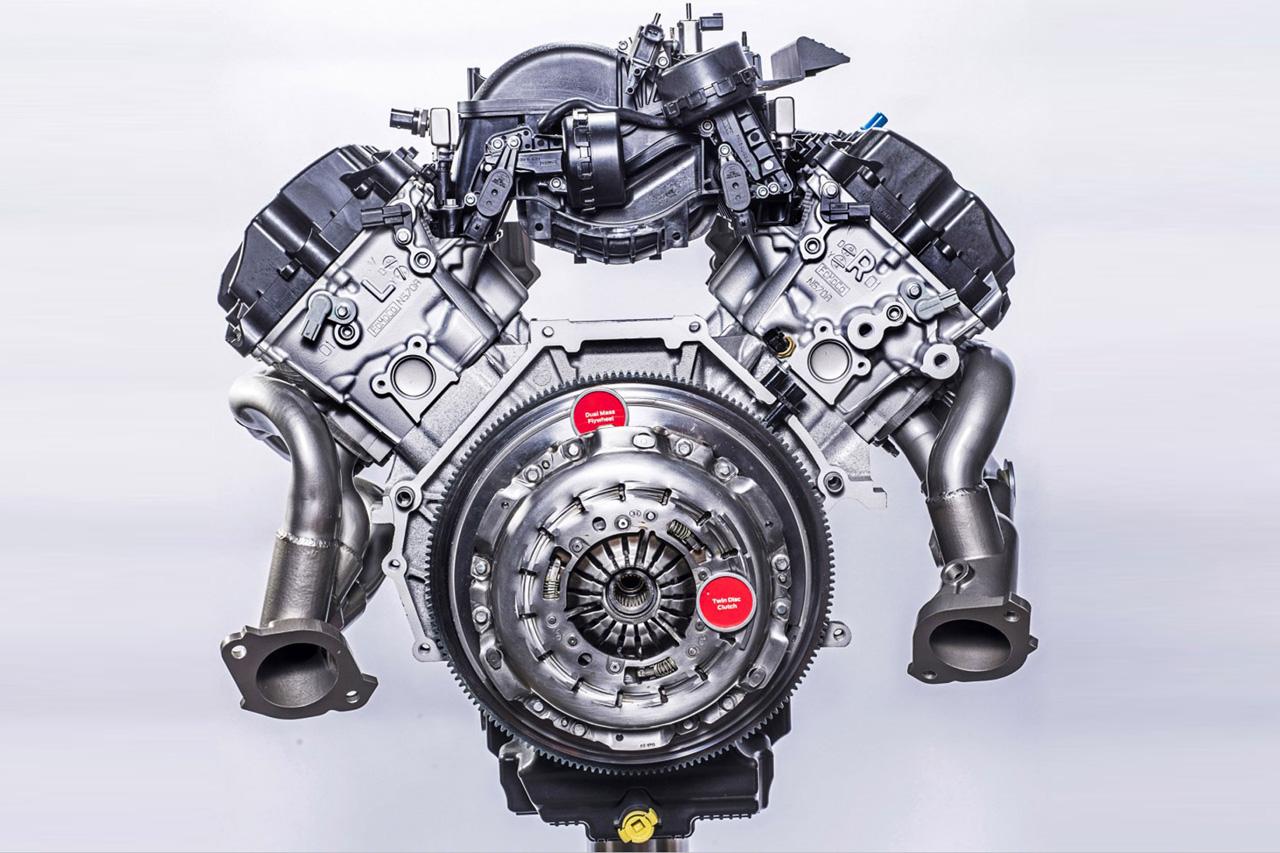 福特公布野马shelby gt350发动机细节图片