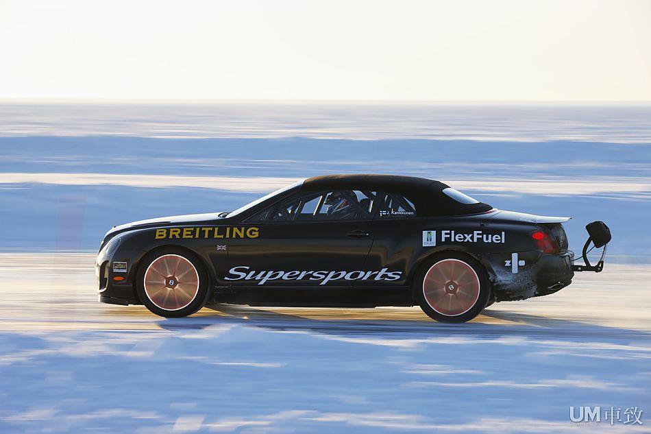 330.7km/h宾利奥迪敞篷版创冰上最高时速欧陆a4加油加哪种图片