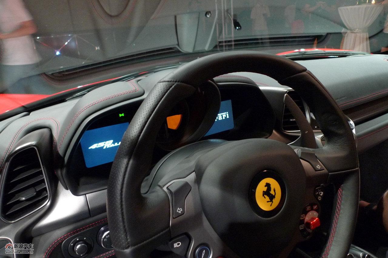 法拉利458italia内饰及细节高清图片
