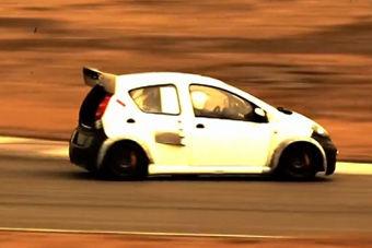 视频:比亚迪F0改1.5T发动机赛道首试