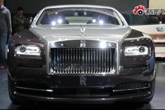 视频:上海车展劳斯莱斯Wraith魅影实拍