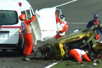 视频:惨不忍睹!法拉利458铃鹿赛道惨烈撞毁