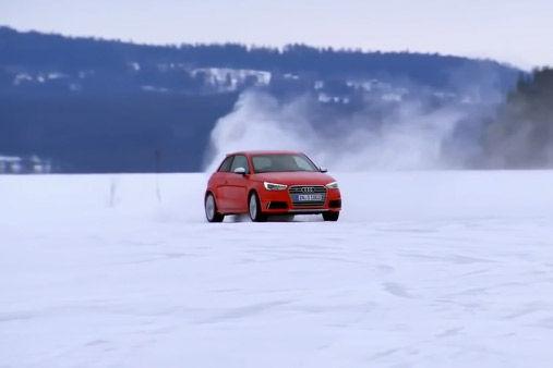 视频:全新奥迪S1无伪装冰雪极致路试