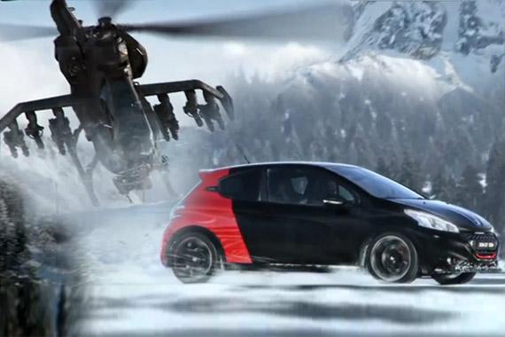 视频:新标致208 GTi 雪地飙车秒杀战斗机