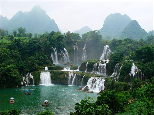 探秘西南风情 寻找广西最美的瀑布(组图)