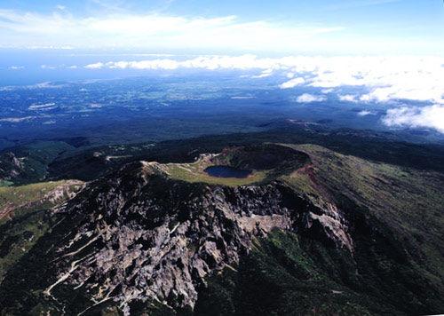 韩国济州岛的神之山汉拿山