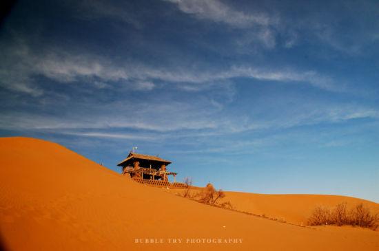 宁夏沙坡头 浪漫沙都的冬日色彩