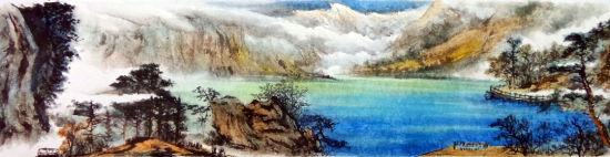 妙笔丹青:国画师笔下的九寨天堂