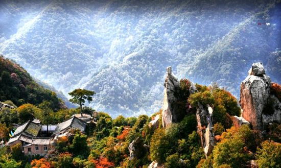 西安环山路景观带翠华山