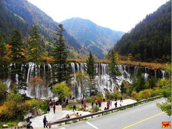国内十大最美瀑布 九寨沟瀑布群