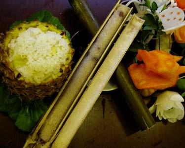 香竹饭:米粒晶莹 香味弥漫(图)