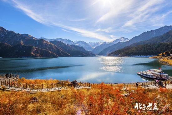 新疆天池 天山脚下美丽的地方