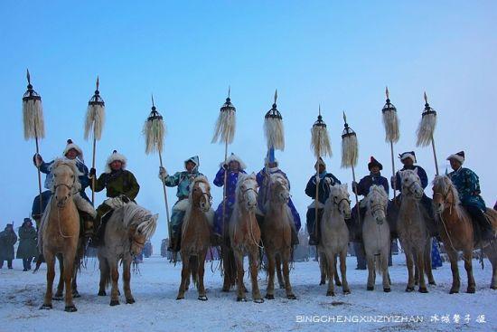 呼伦贝尔大草原上的冰雪那达慕