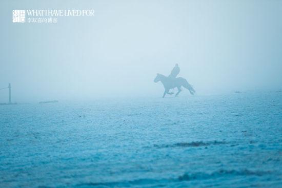 内蒙古 行走在零下30℃的冰雪草原