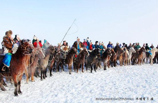 奔腾在呼伦贝尔草原上的冬日盛会