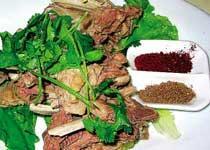 中国宁夏固原特色菜:羊肉炒揪面片