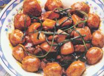 中国吉林长春餐饮特色菜:红烧丸子