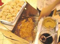 中国辽宁大连餐饮特色菜:海鲜焖子