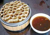中国山西阳泉小吃:莜面栲栳栳